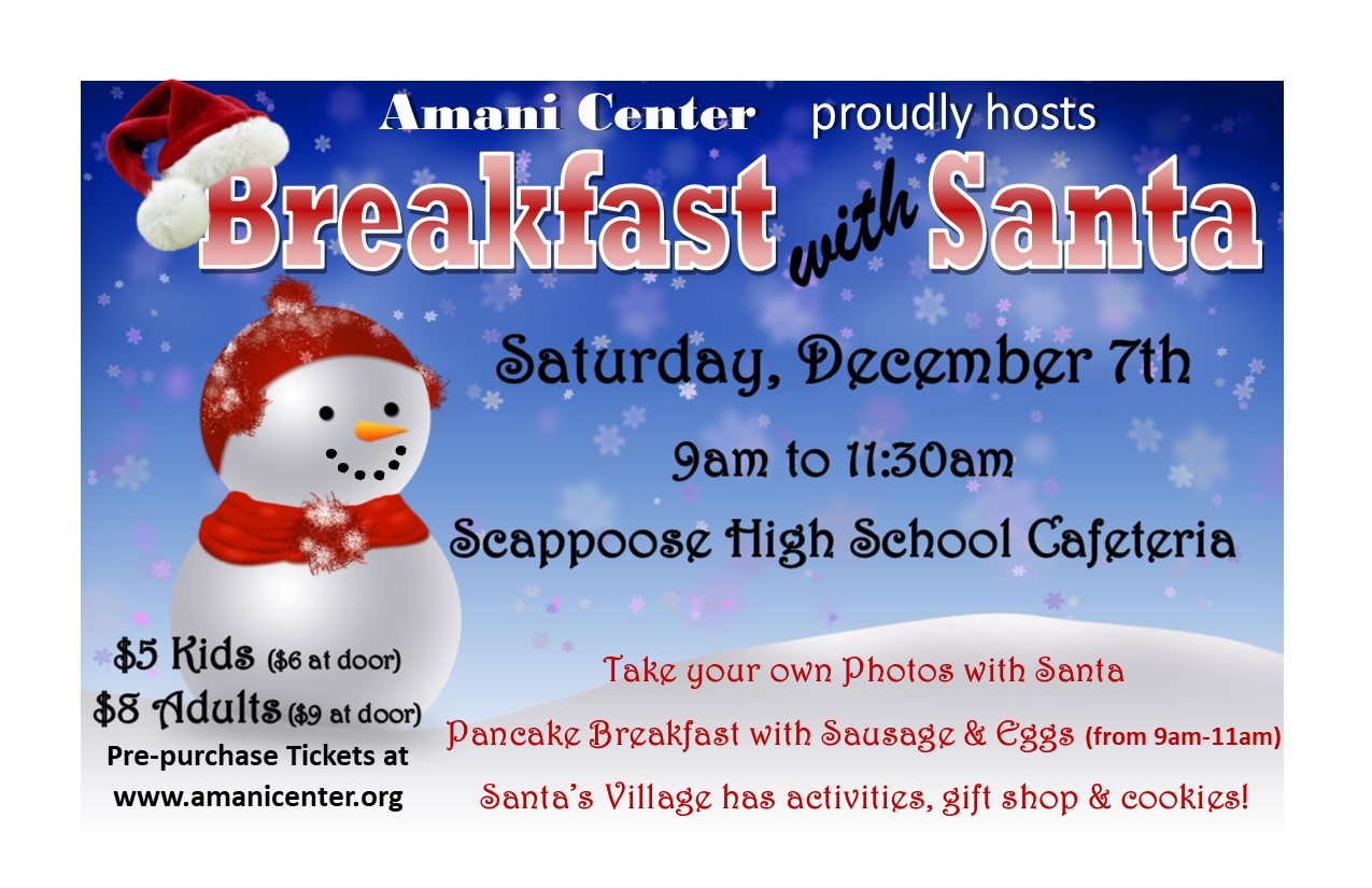 Breakfast With Santa flyer 2019-half page-red